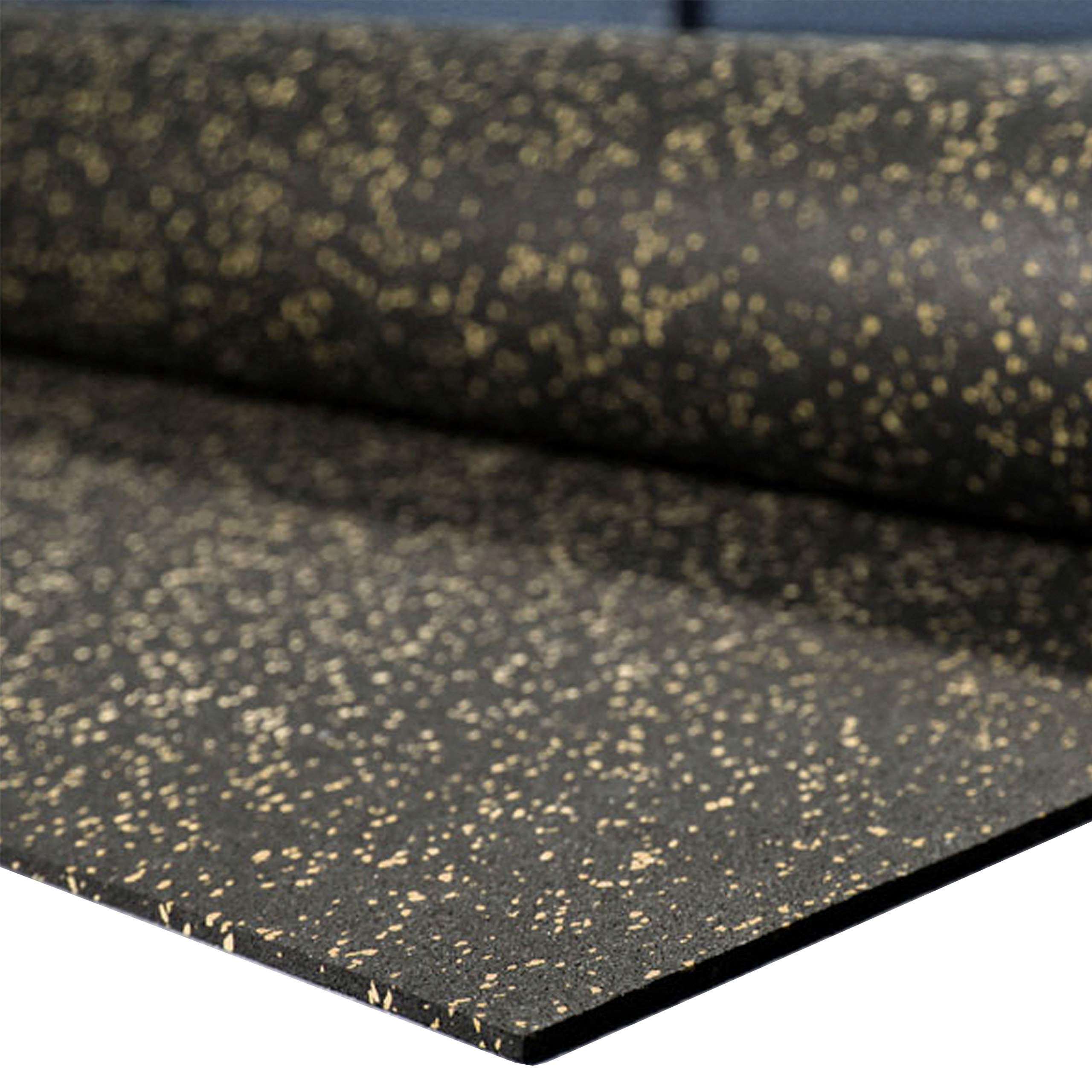 """IncStores 1/4"""" Tough Rubber Roll (4' x 10') - Excellent Gym Floor mats for Medium/Large Equipment and Light/Moderate Free Weights (5 Mats - 4'x10' Tan)"""