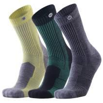 Merino Wool Cushion Crew Socks-Performance Hiking Trekking Socks for Winter Outdoor Men Women