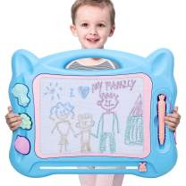 KINGSDRAGON Magnetic Drawing Board Large Erasable Drawing Doodle Board Toy with Foldable Stand Cute Stamps,Writing Sketching Drawing Doodle Pad for Kids Toddler Boys Girls Birthday Gift