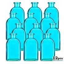 Glassnow C6054G09-N Roma Glass Bottle No Cork, 8.5oz 12 Pieces, Aqua