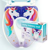 UNI BOO BOO Travel Potty Seat, Portable and Foldable Toddler Kids Toilet Training Seat for All Toilets, with Splash Guard and Non-Slip Rubber Pads,Free Kids Travel Bag for Boys and Girls