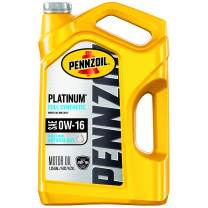 Pennzoil Platinum Full Synthetic Motor Oil 0W-16, 5 Quart - Pack of 3