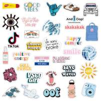 Enjoyee 34PCs VSCO Stickers for Hydro Flask, Enjoyee Special Designed Multi Colorful Vinyl Water Bottle Stickers for Teens, Girls - Perfect Gifts for VSCO Girls with Wrapping Box Decorated