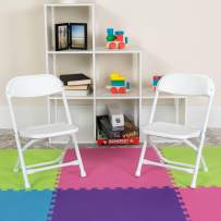 Flash Furniture Kids White Plastic Folding Chair