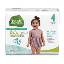 Seventh Generation Baby Diapers, Sensitive Protection, Size 4, 25 Count