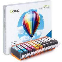 Odoga Compatible PGI-220 CLI-221 Ink Cartridge Replacement for Canon Pixma MX870 MP560 MP620 MX860 iP3600 iP4600 iP4700 MP990 MP980 MP640 [2 XL Black, 2 Black, 2 Cyan, 2 Magenta, 2 Yellow] - 10 Pack