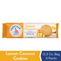 Voortman Bakery Lemon Coconut Cookies, 12.3 oz., Pack of 4 – Delicious Lemon Coconut Cookies Made with Real Ingredients and No Artificial Additives