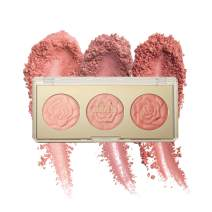 Milani Rose Blush Trio Palette - Floral Fantasy (0.42 Ounce) Vegan, Cruelty-Free Powder Blush Palette that Shapes, Contours and Highlights Face with Matte & Shimmery Color (Floral Fantasy)