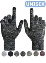 HONYAR Knit Winter Touch Screen Gloves for Men and Women - Warm Soft Lining - Anti-Slip Grip - Elastic Cuff