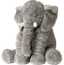 Missley Elephant Stuffed Toys-Best Home Cartoon Decoration-Cushion Soft Toys Cartoon Doll (Grey, Large)