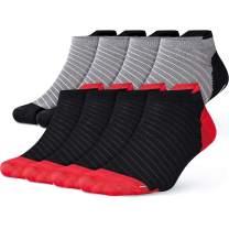 Compression Running Socks for Men Women Cotton Low Cut Socks Non Slip Jogging Ankle Socks Anti-Blister Moisture Wicking