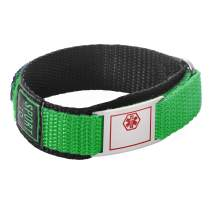 linnalove Free Engraving Sport Medical Alert Bracelet Waterproof Nylon ID Bracelets is Breathable