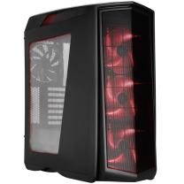 SilverStone Technology PM01CR-W Performance ATX Primera Computer Case, Matte Black with Red LED