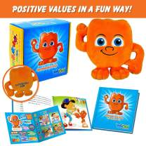 ENTYPALS Educational Plush & Learning Board Book, (Value of RESPONSABILITY) Great Gift Set for Kids or Children Boys or Girls. Kids Learning Toy. Toddler Activities and Kids Therapy Help. by Entyva