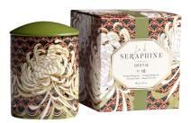 L'or de Seraphine Premium Scented Candle in Designer Ceramic Jar with Gift Box, Hestia Design, Fragrance No. 18, Medium - 6.4oz. (19342)