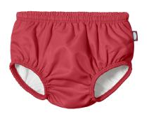 City Threads Baby Girls' and Boys' Swim Diaper Cover Reusable LeakProof for Swimming Pool Lessons Beach, Red, 4T