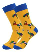 Real Sic Casual Designer Socks for Men and Women - Animal Pet Series - Breathable and Lightwear Cotton (Ostrich)