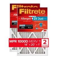 Filtrete 14x20x1, AC Furnace Air Filter, MPR 1000D, Micro Allergen PLUS DUST, 2-Pack