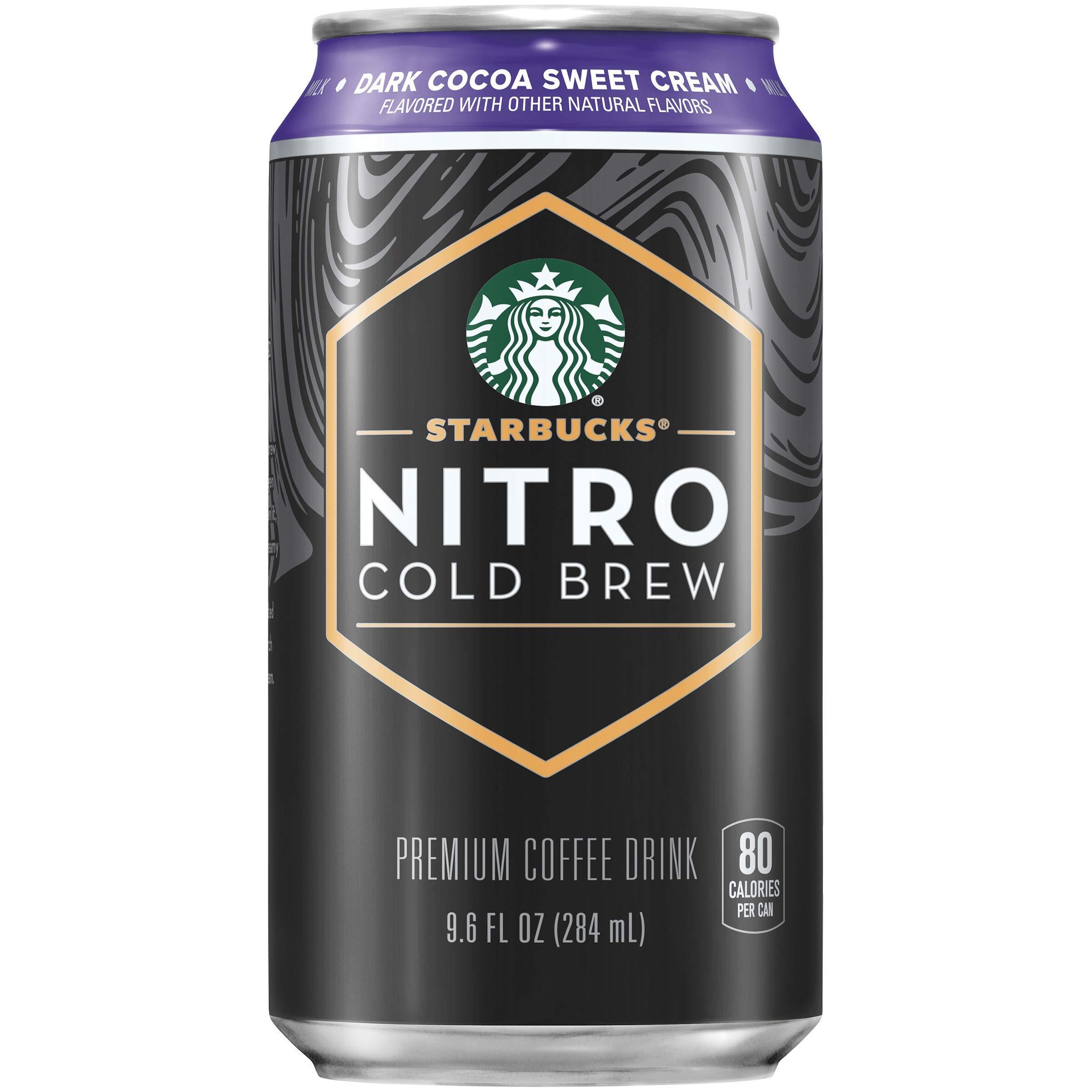 Starbucks Nitro Cold Brew, Dark Cocoa Sweet Cream, 9.6 fl oz Cans (8 Pack)
