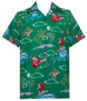 Hawaiian Shirt Mens Christmas Santa Claus Party Aloha Holiday Beach