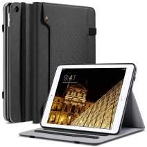 ULAK iPad Mini 2 Case,iPad Mini Case,iPad Mini 3 Case, Premium Canvas Folio Stand Protective Case Smart Cover with Multi-Angle Viewing, Pocket, Pen Holder Auto Sleep/Wake for iPad Mini 1/2/3,Black