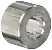 """Round Spacer, Aluminum, Plain Finish, #2 Screw Size, 1/8"""" OD, 0.09"""" ID, 3/8"""" Length, Made in US (Pack of 10)"""