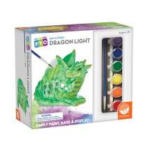 MindWare Paint Your Own Porcelain: Dragon Light with 2 Tea Lights, 12 Paints & 2 Brushes - Creative paintable Pottery Crafts & Gift Kits for Kids