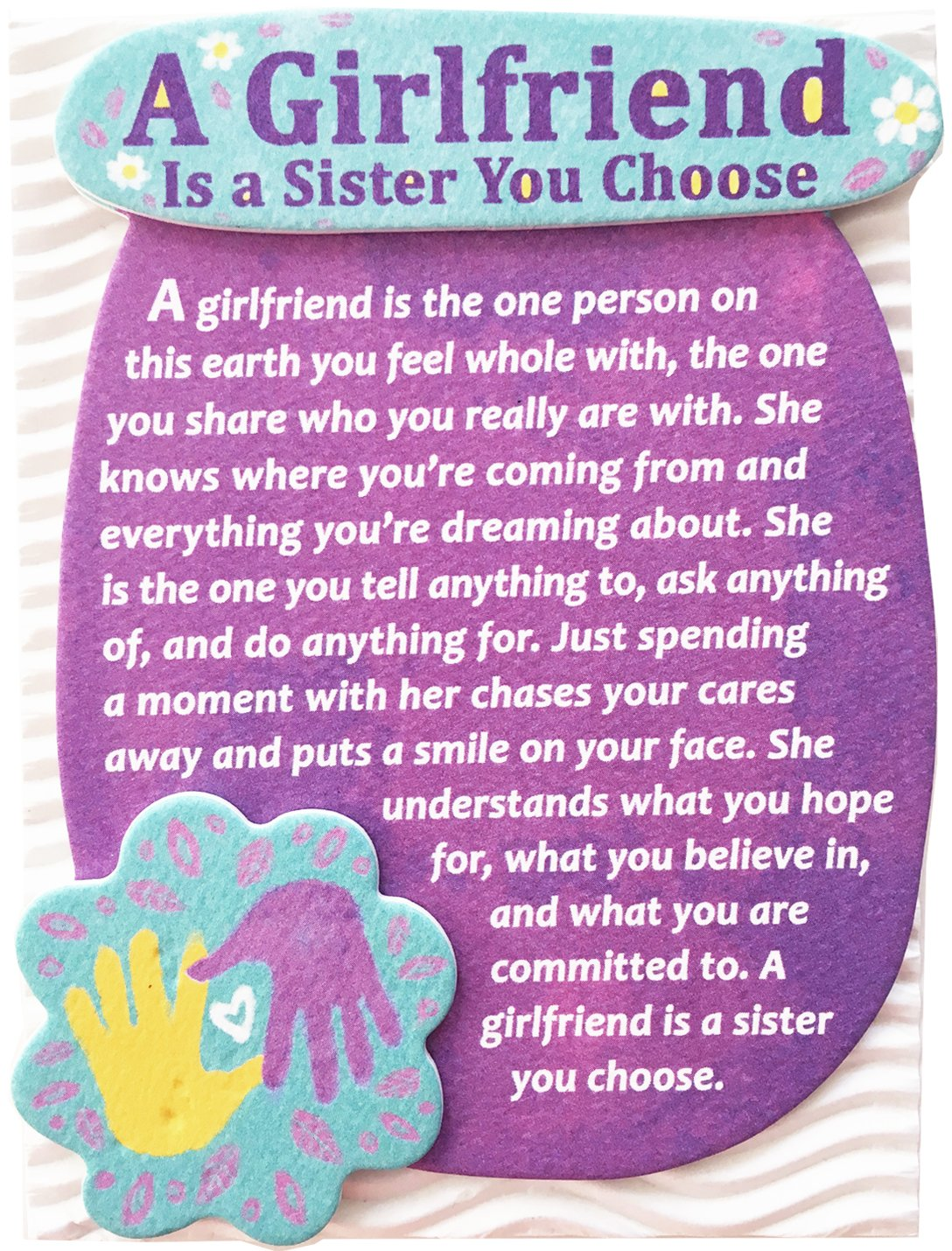"""Blue Mountain Arts Miniature Easel Print with Magnet """"A Girlfriend Is a Sister You Choose"""" 4.9 x 3.6 in., Perfect Birthday, """"Thinking of You,"""" Friendship, or """"Just Because"""" Gift for a Woman Friend"""