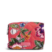 Vera Bradley Women's Signature Cotton Card Case Wallet with RFID Protection