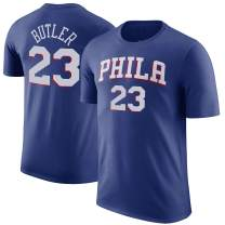Outerstuff NBA Youth Performance Game Time Team Color Player Name and Number Jersey T-Shirt (Large 14/16, Jimmy Butler Philadelphia 76ers)
