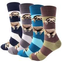Animal Print Dress Art Socks for Women,Colorful Funny Crazy Novelty Fun Unicorn Cute Harajuku