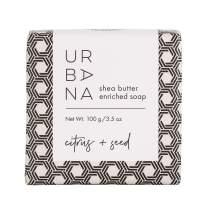 Urbana 75159CS Moisturizing Shea Butter Enriched Bar Soap (3.5oz), Citrus + Seed