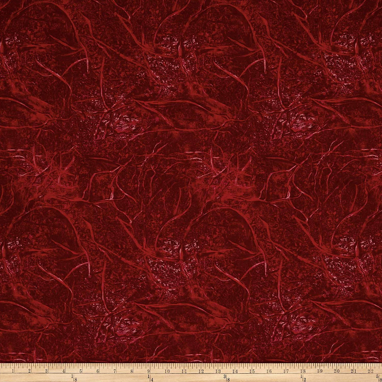 """Santee Print Works 108"""" Wide Back Branches Blenders Red Fabric by the Yard"""