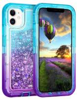 Coolden Case for iPhone 11 Cases Protective Glitter Case for Women Girls Cute Bling Sparkle Heavy Duty Hard Shell Shockproof TPU Case for 2019 Release 6.1 Inches iPhone 11 iPhone XI, Aqua Purple