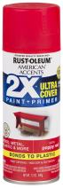 Rust-Oleum 327928 American Accents Spray Paint, 12 oz, Satin Poppy Red