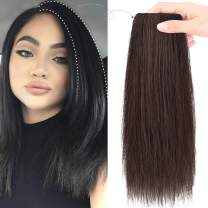 """REECHO 12"""" Thick Hairpieces Adding Extra Hair Volume Clip in Hair Extensions Hair Topper for Thinning Hair Women Color Dark Brown"""