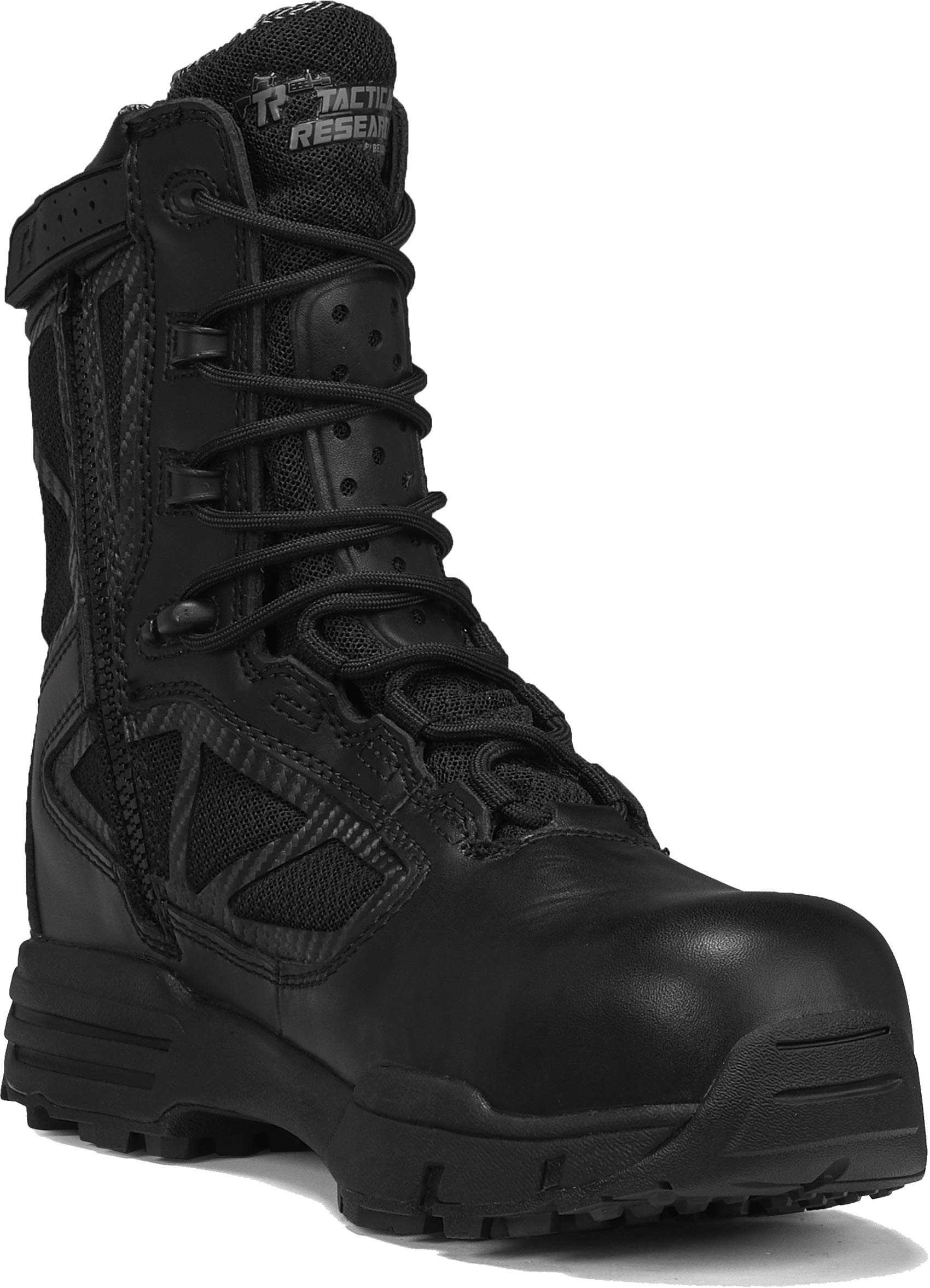 "TACTICAL RESEARCH TR Men's TR Chrome TR998Z WP CT 8"" Waterproof Side-Zip Composite Toe Boot"