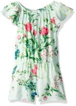 The Children's Place Big Girls' Floral Printed Romper