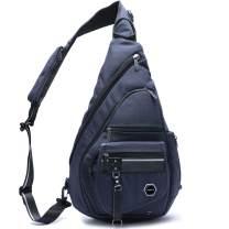 Large Sling Backpacks, 14.1'' Laptop Sling Bags Chest Shoulder Travel Backpack