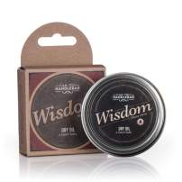 Wisdom - Woodsy & Citrus Aroma - Premium Beard Balm For Men | Dry Oil Beard Conditioner | 2 Oz Stainless Steel Tin