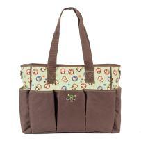 SoHo Canvas Diaper Tote Bag 7pc, Brown Monkies