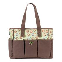 SoHo Canvas Diaper Tote Bag 7pc, Brown Monkies