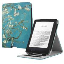 Fintie Flip Case for All-New Kindle (10th Generation, 2019) / Kindle (8th Generation, 2016) - Vertical Multi-Viewing Hands-Free Stand Cover with Auto Sleep/Wake, Blossom