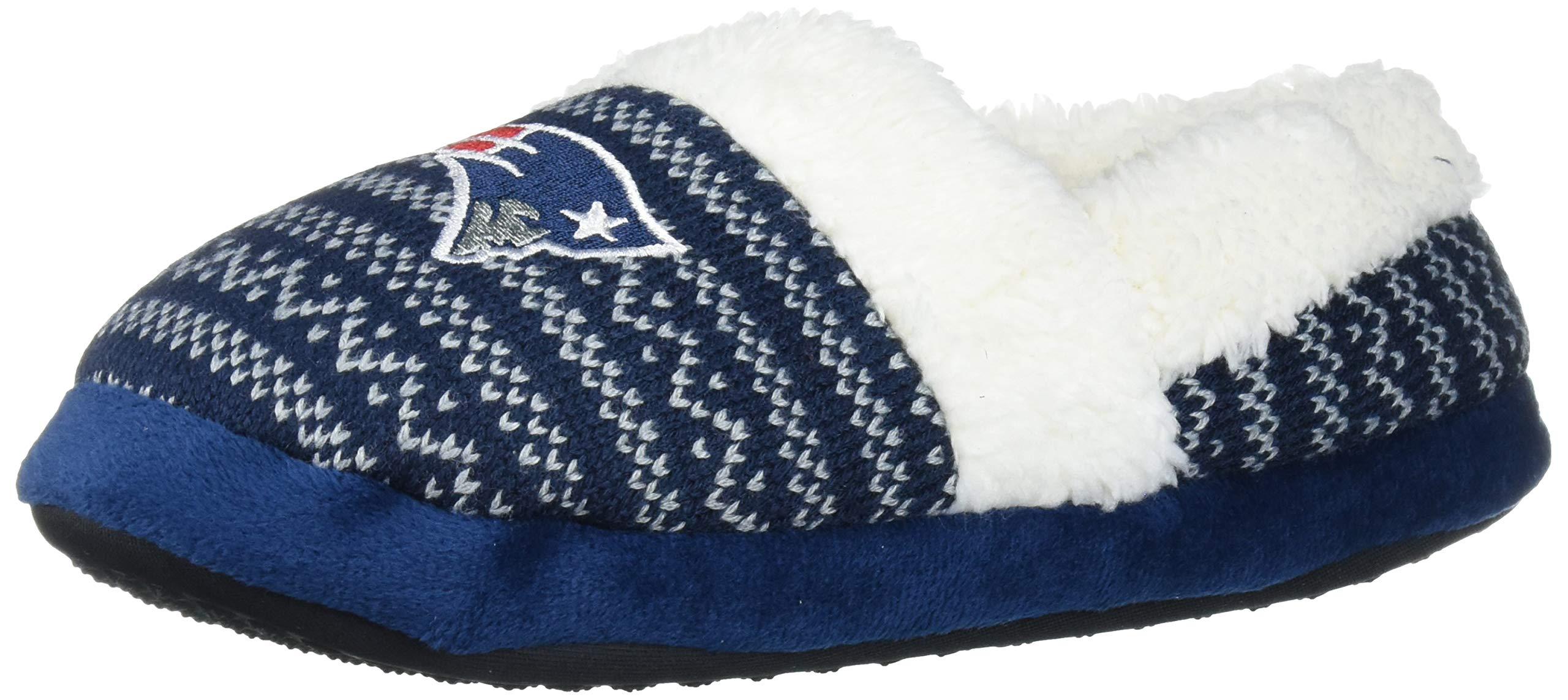 FOCO NFL Unisex SMU Big Logo Holiday Aztec Print Knit Moccasin