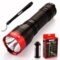 BOSTAC BTR-45 Professional Tactical Flashlight - Hand Held Flashlight by Boston Tactical with High Intensity CREE XML2 U2 USA LED Bulb, 1,100 Lumens, Sealed Against Solvents, 3 AAA Batteries