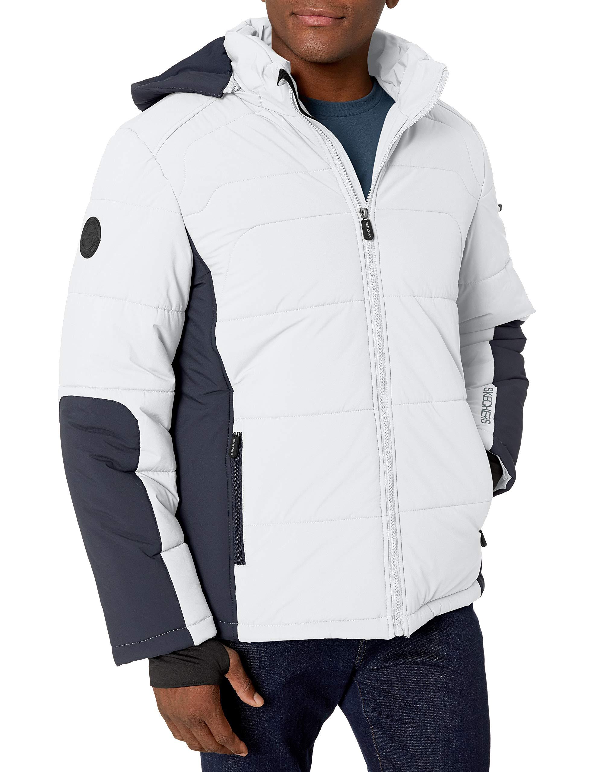 Skechers Men's Warm Puffer Jacket with Hood