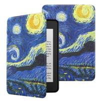MoKo Case Fits Kindle Paperwhite (10th Generation, 2018 Releases), Premium Ultra Lightweight Shell Cover with Auto Wake/Sleep for Amazon Kindle Paperwhite 2018 E-Reader - Starry Night