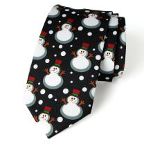 Spring Notion Men's Printed Microfiber Christmas Theme Tie