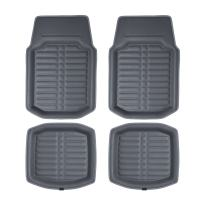 FH Group F14409SOLIDGRAY Front Set Only Gray Floor Mats Deep Tray All Weather Floor Mat, 2 Piece