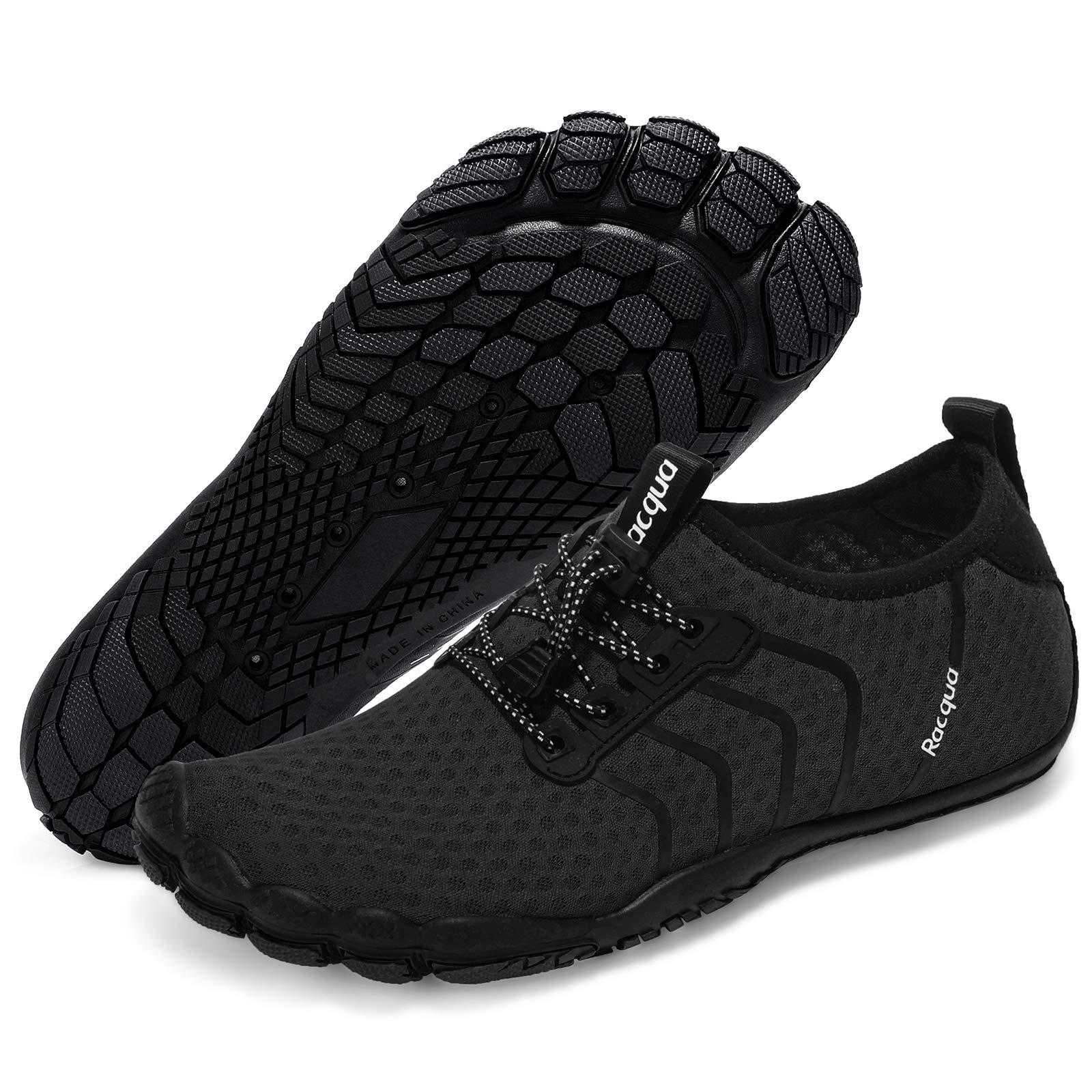Racqua Water Shoes Quick Dry Barefoot Beach Aqua Sport Swim Surf Pool Hiking Diving Walking for Men Women